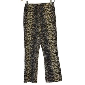 Vtg FORENZA High Rise Leopard Pants Jeggings PM